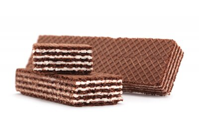Sticker Brown wafers stick isolated on white background