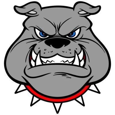 Sticker Bulldog Growl