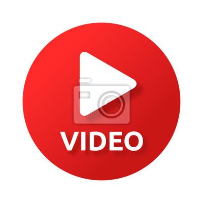 Sticker Button Play Video