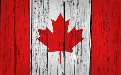 Sticker Canada Flag Grunge Background