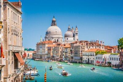 Sticker Canal Grande with Basilica di Santa Maria della Salute, Venice, Italy