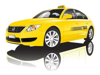 Sticker Car Cab Taxi Public Shiny Performance Concept