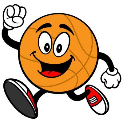 Sticker Cartoon Basketball Running