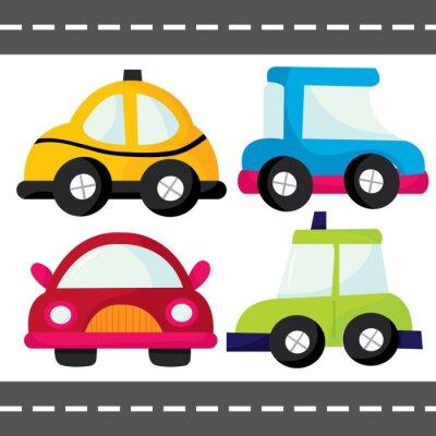 Sticker Cartoon Cars