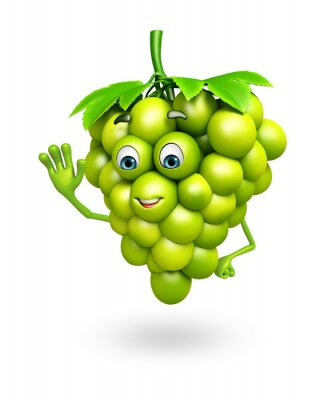 Sticker Cartoon character of grapes