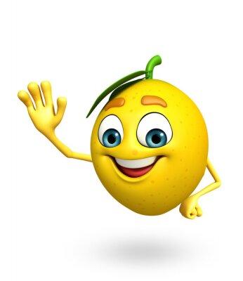 Sticker Cartoon character of lemon