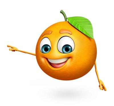 Sticker Cartoon character of orange