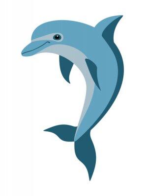 Sticker cartoon dolphin
