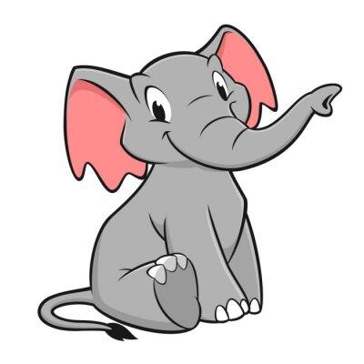 Sticker Cartoon Elephant
