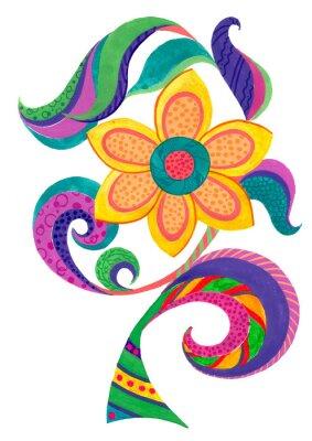 Sticker cartoon flower