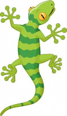 Sticker Cartoon gecko