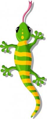 Sticker Cartoon gecko for you design