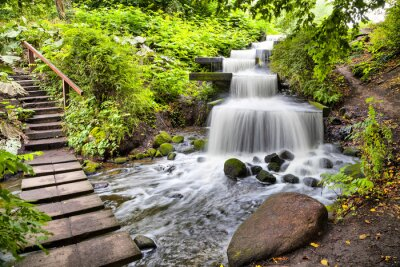 Sticker Cascade waterfall in Planten un Blomen park in Hamburg