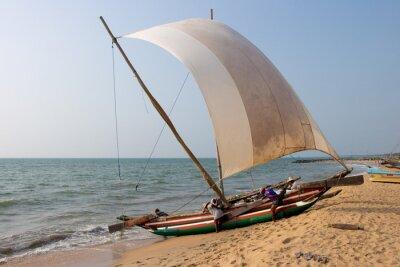 Sticker Catamaran Negombo beach, Sri Lanka