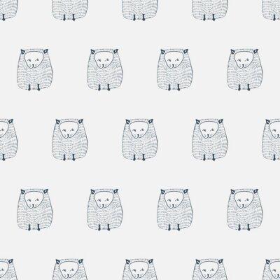 Sticker Cats seamless pattern. Animal background. Vector illustration