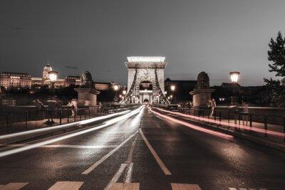 Sticker Chain bridge at night