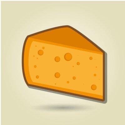 Sticker cheese icon design