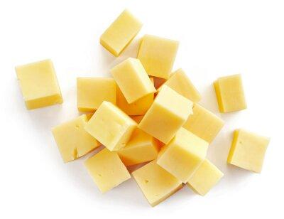 Sticker cheese pieces