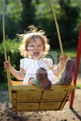 Sticker Child on swing