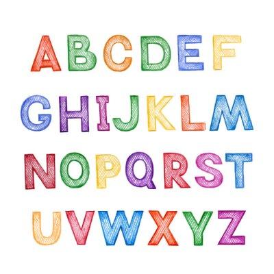 Sticker Children's cartoon ABC
