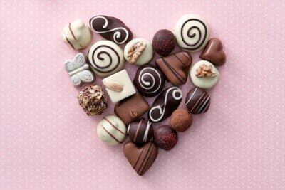 Sticker Chocolate candies heart
