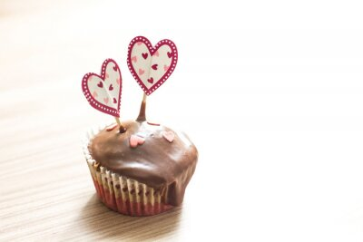 Sticker Chocolate Muffin Dessert