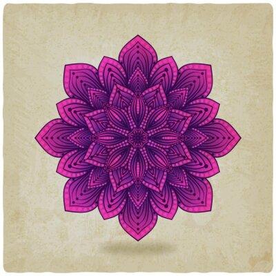 Sticker circular pattern mandala old background