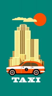 Sticker City Taxi poster
