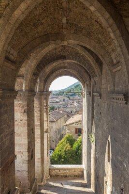 Sticker Cityscape of Gubbio near Perugia (Italy)