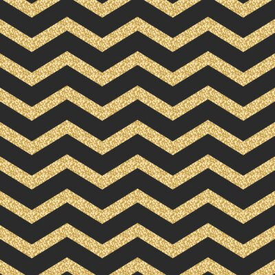 Sticker Classic chevron stripe glitter shimmer seamless vector pattern.