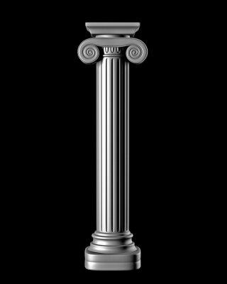 Sticker Classic Column on Black Background
