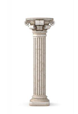 Sticker Classic Greek Pillar. 3d rendering.
