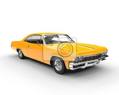 Sticker Classic muscle yellow car - studio lighting shot