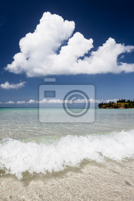 Sticker Clear water and blue sky paradise beach.