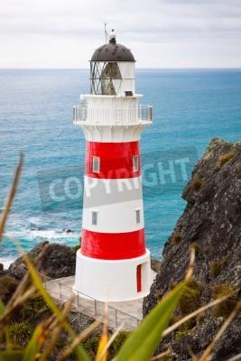 Sticker Close-up of a beautiful lighthouse at Cape Palliser, North Island, New Zealand