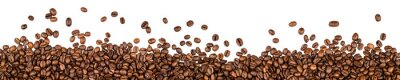 Sticker coffee beans isolated on white background