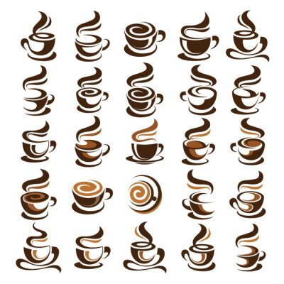 Sticker Coffee cup vector
