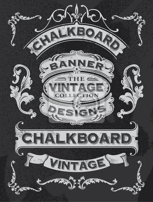 Sticker Collection of banners and ribbons on a black background