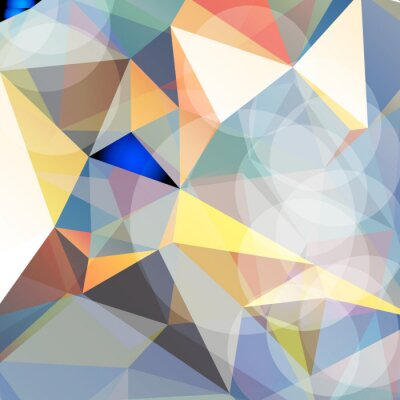 Sticker Colorful abstract vector. triangular geometric