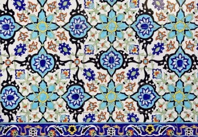 Sticker Colorful moroccan mosaic wall as a nice background