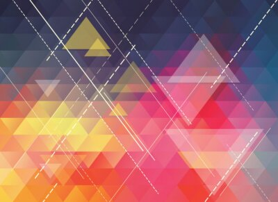 Sticker colorful polygonal abstract background