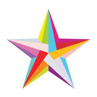 Sticker colorful star