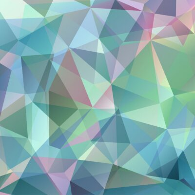 Sticker Colorful Triangle Abstract Background