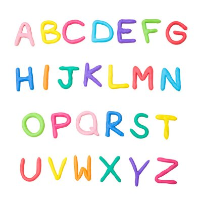 Sticker colourful alphabet a to z
