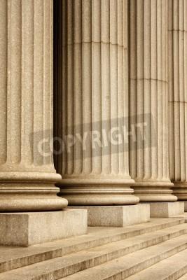 Sticker Columns of the Supreme Court building - New York City, USA