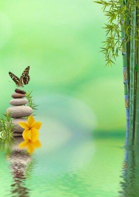 Sticker concept nature détente, bien-être, relaxation