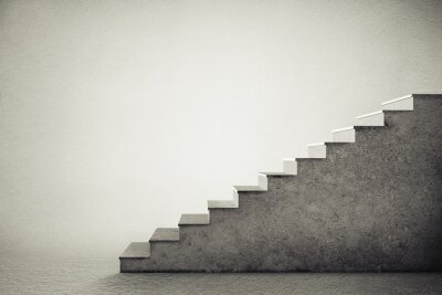 Sticker concrete stairs