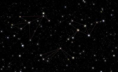 Sticker Constellations of Phoenix, Tucana and Grus