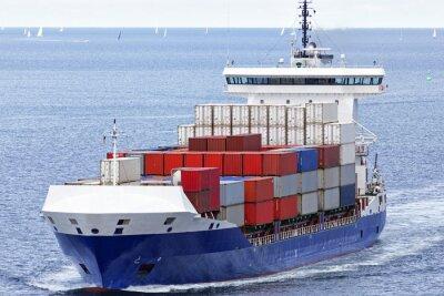Sticker Containerschiff auf der Ostsee bei Kiel