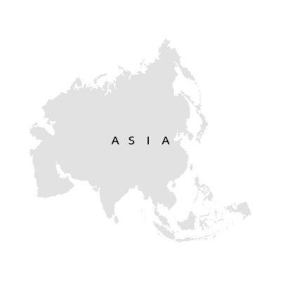 Sticker Continent Asia